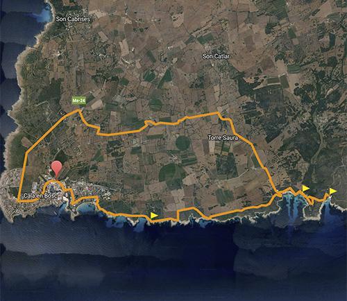 BeachBike Menorca Diego Paredes alquiler de bicicletas rent a bike ruta 1